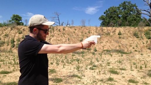 A working gun made via 3D printer.