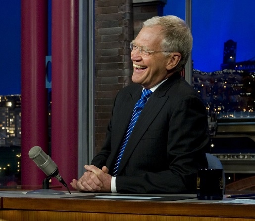 David Letterman enjoying a laugh.
