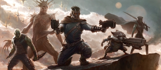 "Concept art for James Gunn's ""Guardians of the Galaxy"" film."