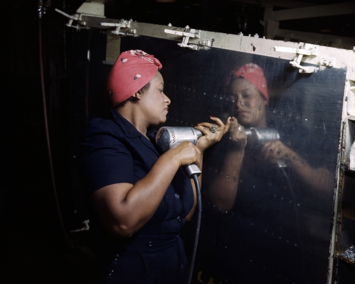 A WWII-era working woman.