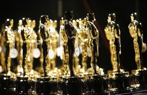 A pile of Oscars waiting to be handed out in 2014.
