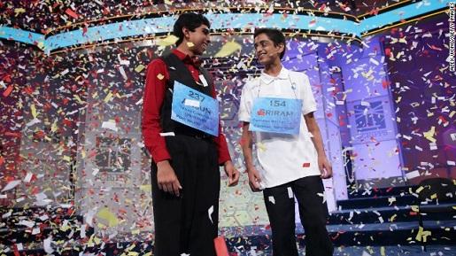Arsun Sujo and Sriram Hathwar, the best spellers in America for 2014.