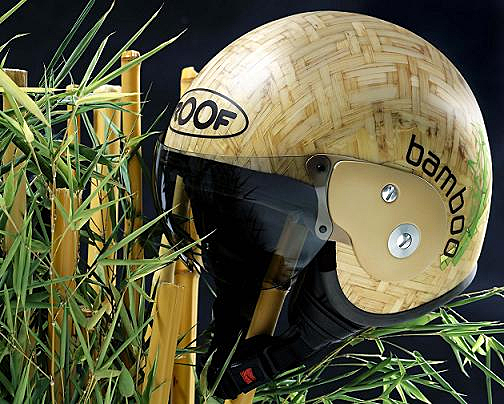 bamboo crash helmet
