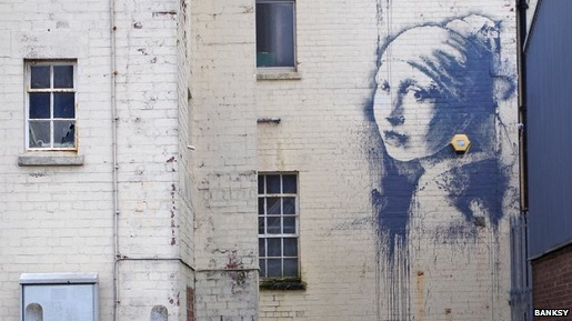 "Banksy's ""Girl with a Pierced Eardrum."""