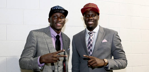 Anthony Bennett and Victor Oladipo, the top two picks in the NBA Draft.
