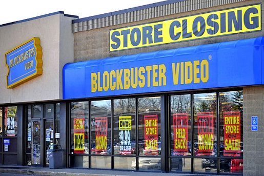 A familiar sight for the last 5 years or so, now all the Blockbusters will be gone.