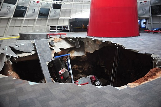 One sinkhole, 8 classic cars, and hundreds of thousands of dollars in damage.