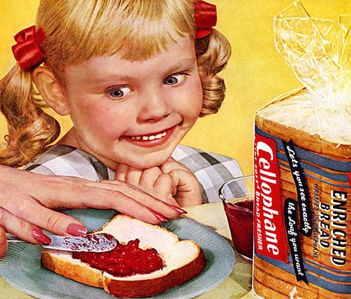 Creepy kid with strawberry jam