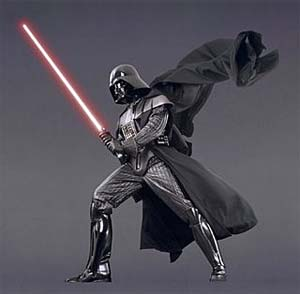 Darth Vader with Light Saber