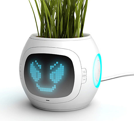 Digital plant pot face
