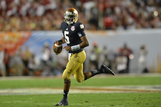 Notre Dame quarterback Everett Golson is no longer at Notre Dame.
