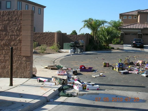The aftermath of Flav's 2010 July 4th party.