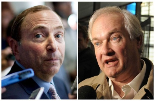 Gary Bettman and Donald Fehr, respectively.