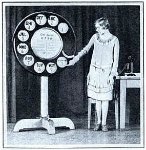 Giant phone dial
