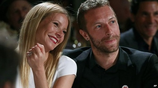 """Gwyneth """"Goop"""" Paltrow and Chris """"C-Mart"""" Martin in better times."""