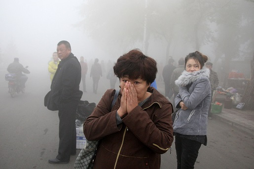 This is what passes for fresh air in Harbin, China.