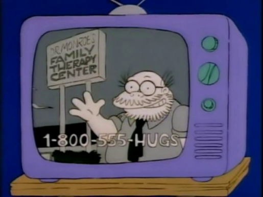 Dr. Marvin Monroe, one of Harry Shearer's many Simpsons creations.