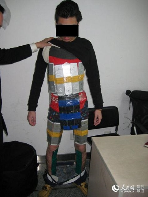A suit of duct tape and iPhone armor.