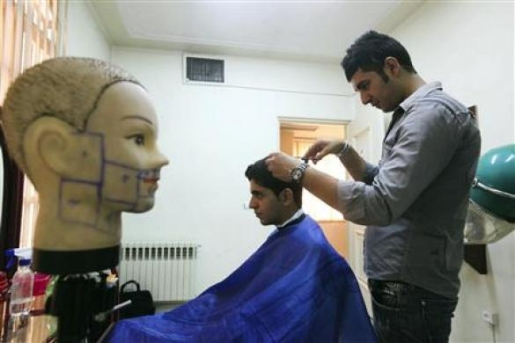According to the men's hairstyle guidelines issued by Jaleh Khodayar,