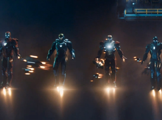 The Iron Men gather in the Iron Man 3 trailer.