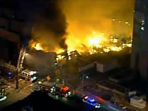 A gas fire in Kansas City took out an entire shopping center.