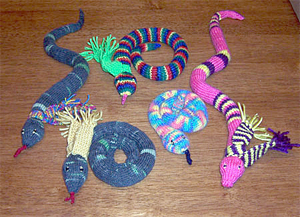 knitted snakes