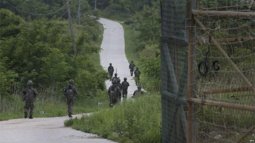 The border separating one Korea into two Koreas.