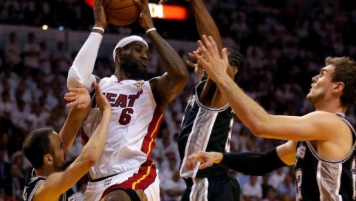 LeBron James, NBA champion.