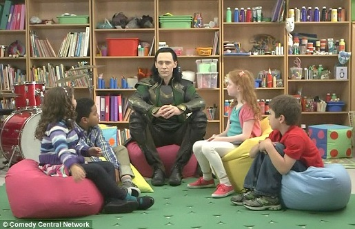 Loki and cute kids: Tumblr just blew up.
