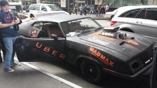 The last of the V8 Interceptors... for an Uber ride.