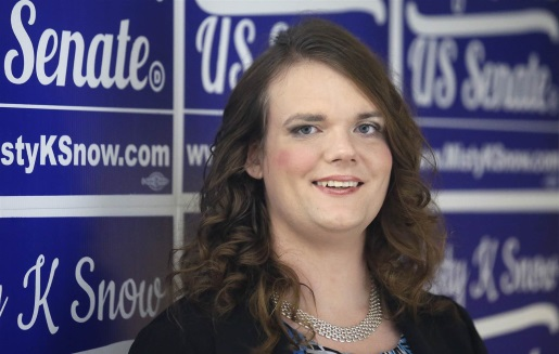 Misty K. Snow, first transgender candidate for the US Senate.