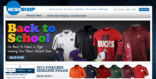 The NCAA Shop is getting shut down, eventually.