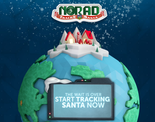 NORAD's Santa Tracker is live right now!
