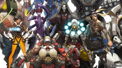 The 12 starting characters for Blizzard's Overwatch.