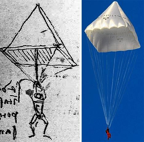 Da Vinci's Parachute design