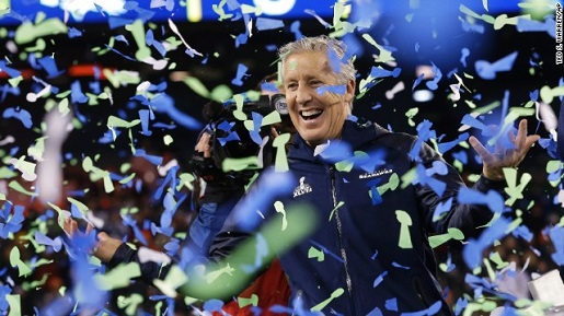 The confetti is little Super Bowl trophies!