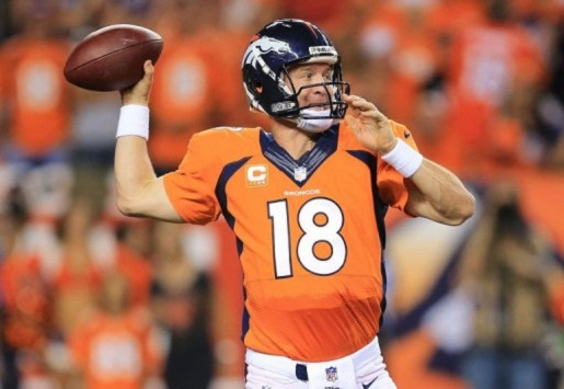 Peyton Manning fires up the laser rocket arm in order to break NFL records.