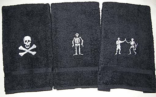 Pirate hand towels
