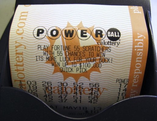 This might be the winning Powerball ticket.