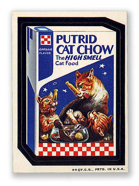 Putrid Cat Chow wacky packages