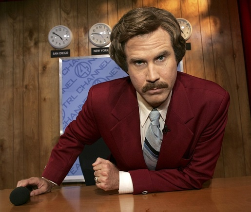 The man, the myth, the newsreader.  Ron Burgandy is writing a memoir.