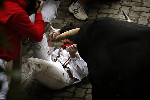 Bill Hillmann, who wrote a book on surviving the Running of the Bulls, was gored during the event.