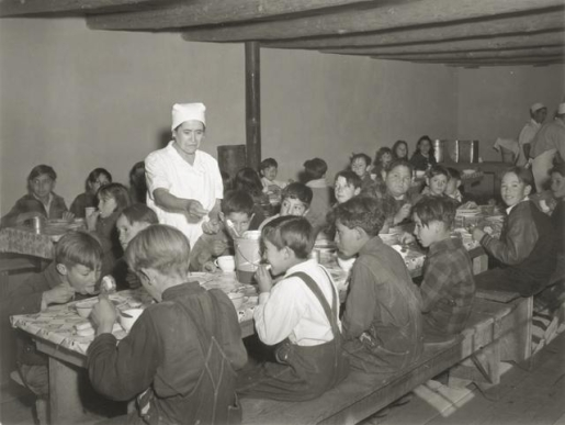 School lunch, circa 1935.