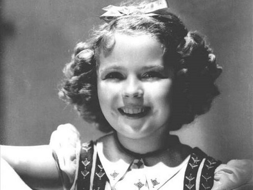 Shirley Temple during her child megastar days.