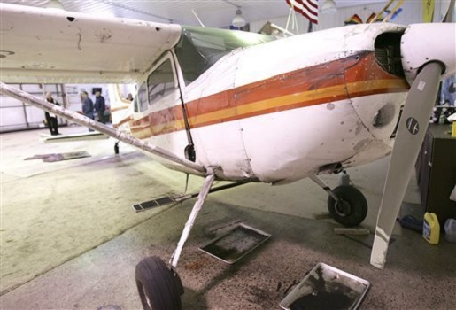 This plane hit another plane in midair and no one was killed.