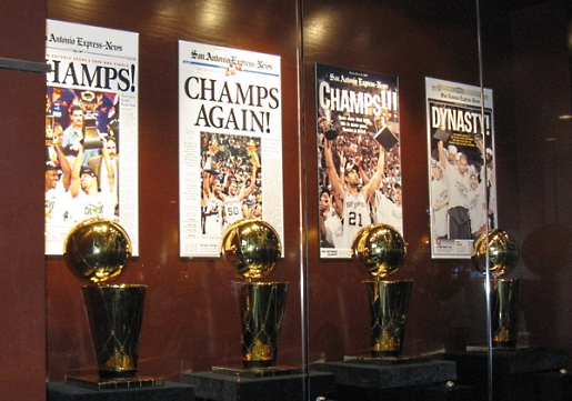 The Spurs have four NBA titles and look to be adding to that.