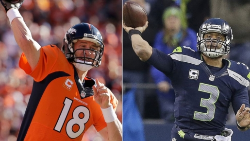 Manning VS. Wilson, Broncos VS. Seahawks, FOOTBAWL!