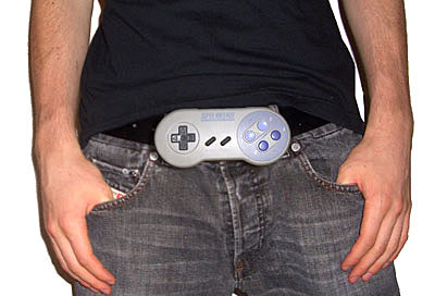 Super Nintendo Controller belt buckle