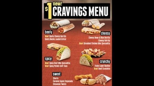 Taco Bell's new dollar menu.