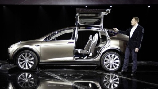 Elon Musk and the Tesla Model X.